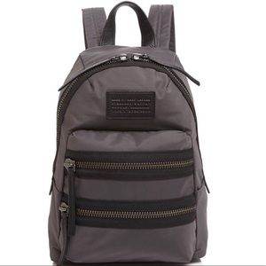 Marc Jacobs Backpack in Charcoal Gray with Black